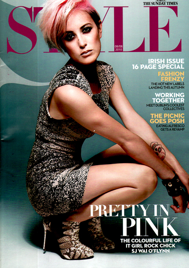 Cover page from Sunday Times Style Magazine featurine South Studios